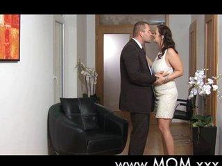 Big breast MILF romantic love making