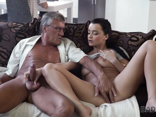 DADDY4K. Middle-aged man has fun close by son's unsatisfied girlfriend