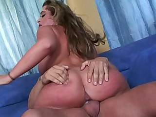 Heavy bosom cheating MILF Mom is riding her husband´s best collaborate load of shit hard