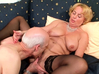74yr venerable German Granny coupled with Grandpa First Time Porn