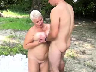 horny stepson loves bbw mom essentially public shore