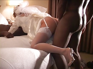 Cuckold nuptial night yon two black cocks