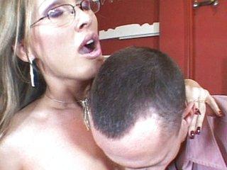 Hot MILF fucking asshole together with vagina
