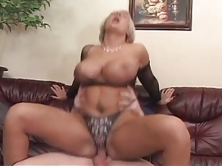 Shove around MILF in undergarments fucked