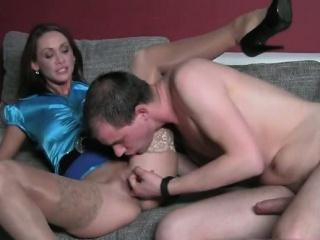 Hot brunette babe gets her cunt pounded part5