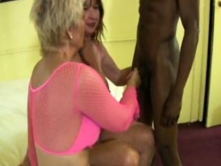 Interracial grown-up swingers sex
