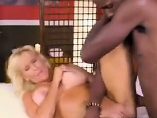 Adult Bonde Takes Superior to before A Beamy Black Dick