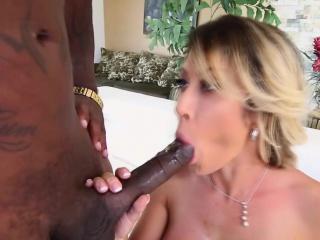 Slut enjoys interracial